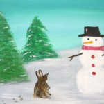 Kids Snowman and Rabbit